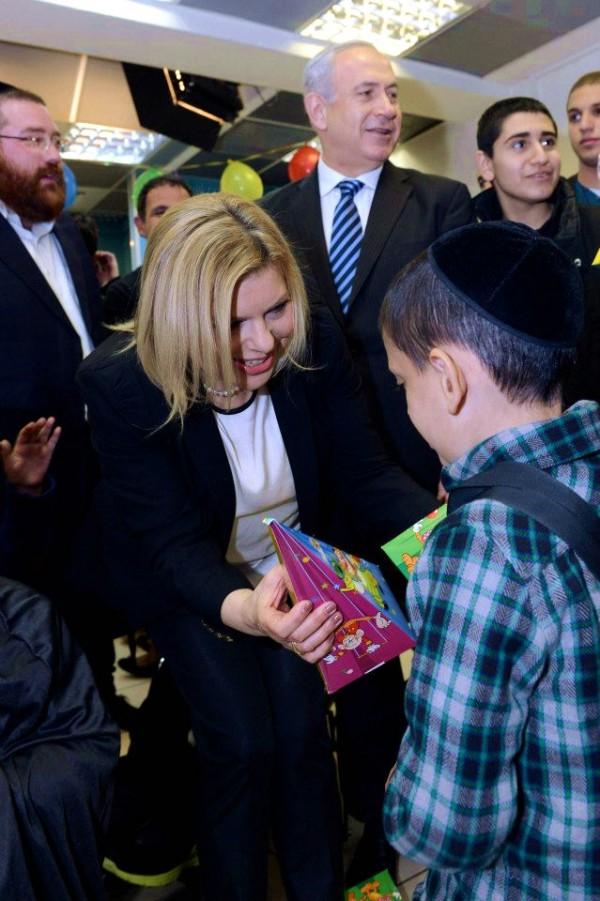 Purim-Netanyahus-sick-children