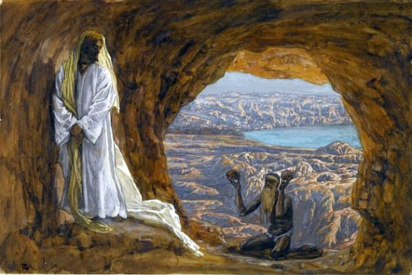 Yeshua is Tempted in the Wilderness-James Tissot