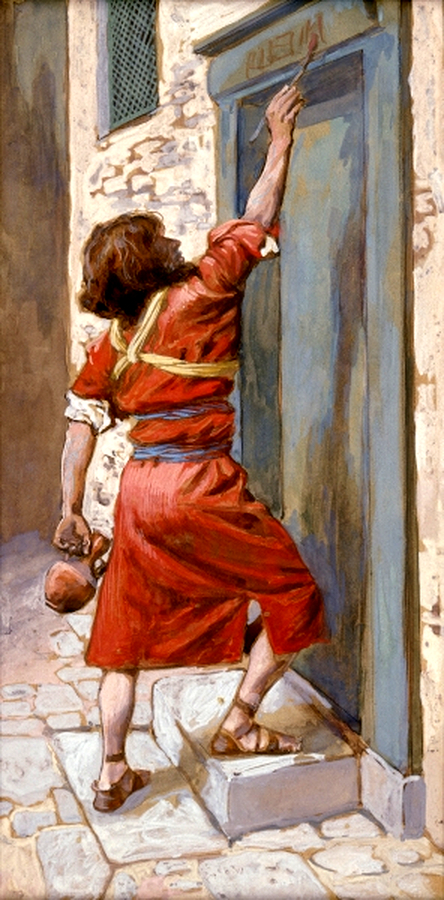The Signs on the Door, by James Tissot