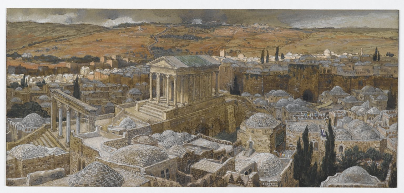 <strong>The Pagan Temple Built by Hadrian on the Site of Calvary</strong>, by James Tissot