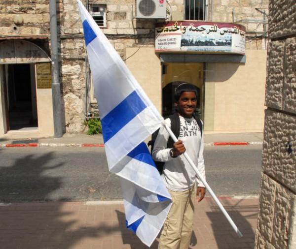 Israel-flag-boy