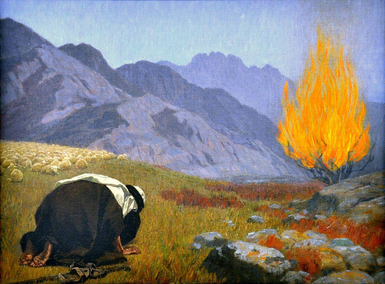 Moses Before the Burning Bush-Gebhard Fugal