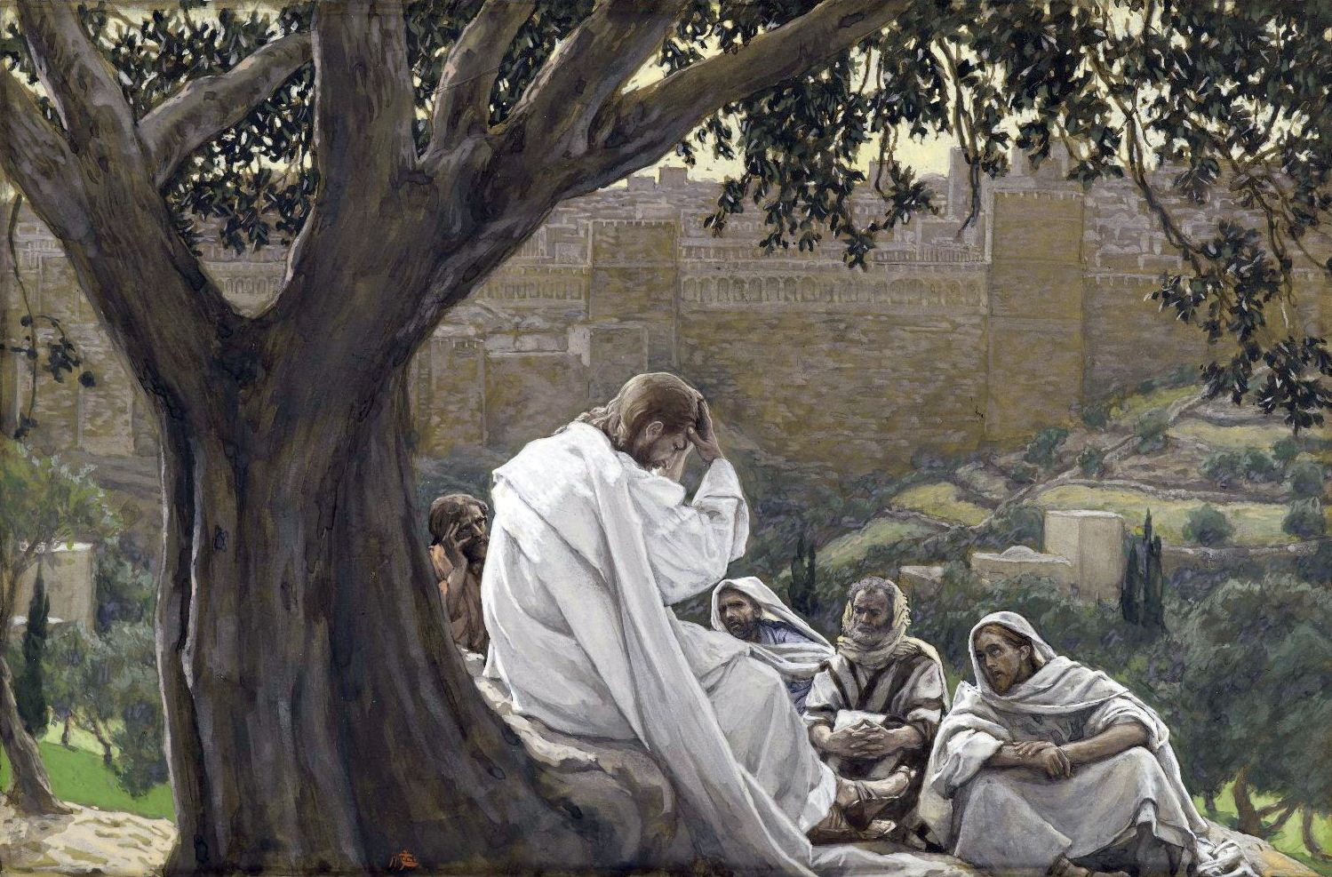 Yeshua Foretells the Destruction of the Temple, by James Tissot