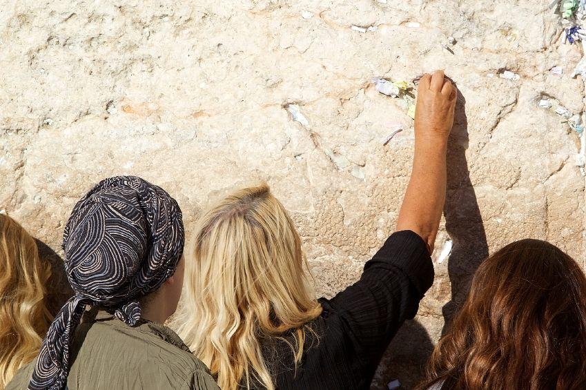 Women's section Western Wall Kotel prayer stones