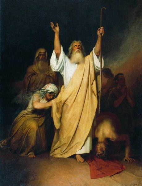 Prayer of Moses after the Israelites Go through the Red Sea (1861), by Ivan Kramskoy  (Source: Wikiart)