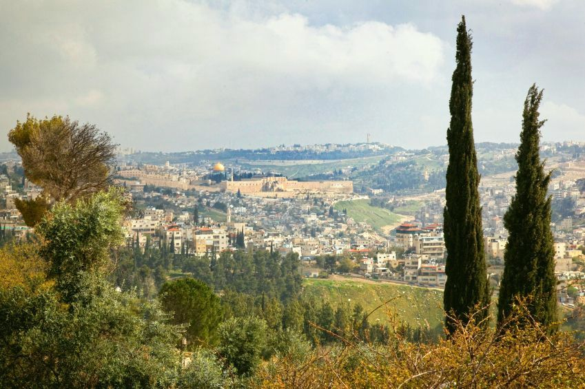A view of the Old City of Jerusalem.