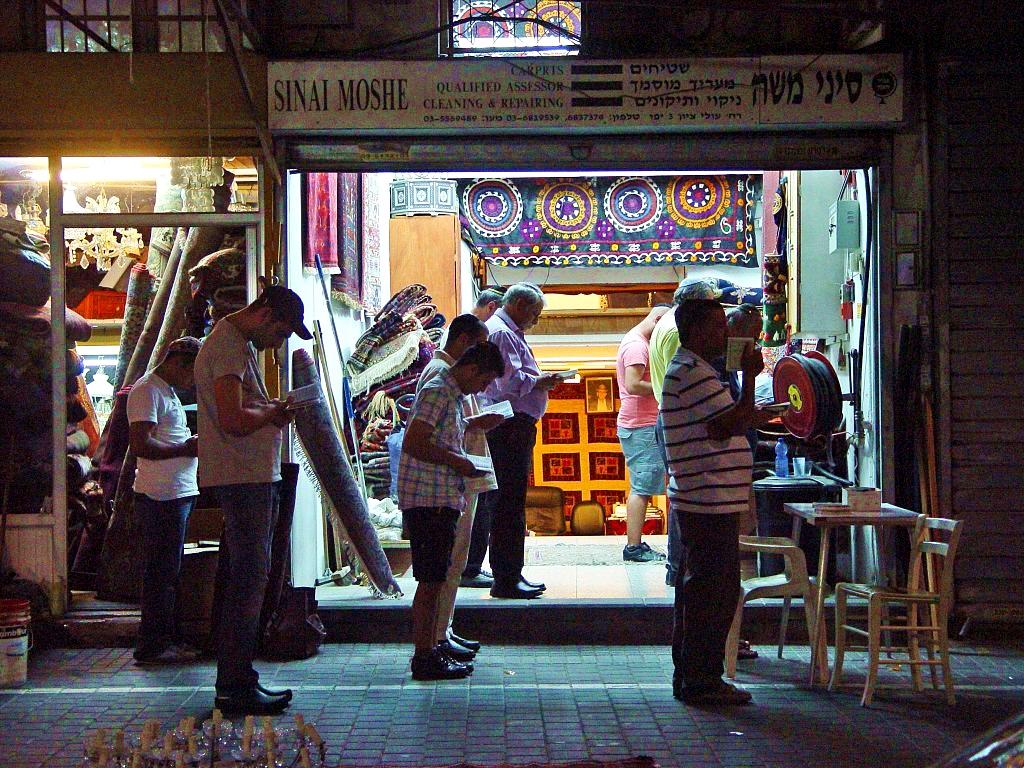 Spontaneous minyan-Maariv-Jaffa