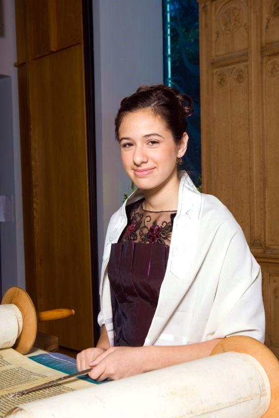 young woman-Torah scroll