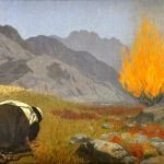 Moses Before the Burning Bush-Gebhard Fugel