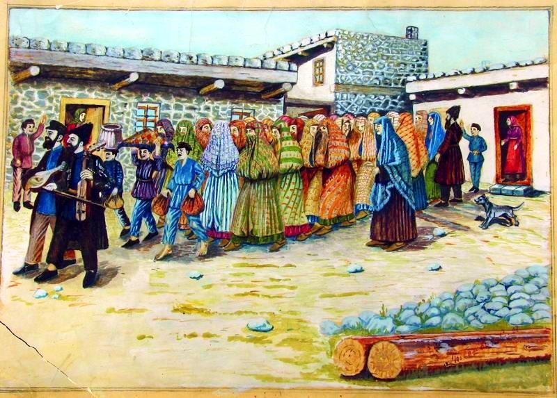 Taking the Bride to the Mikvah, by Shalom Koboshvili