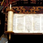 opened Sefer Torah (Torah scroll)