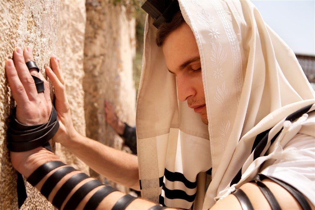 tallit prayer shawl Western Wailing Wall Jerusalem