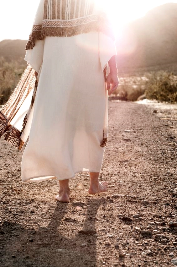 """""""Follow in His steps."""" (1 Peter 2:21)"""