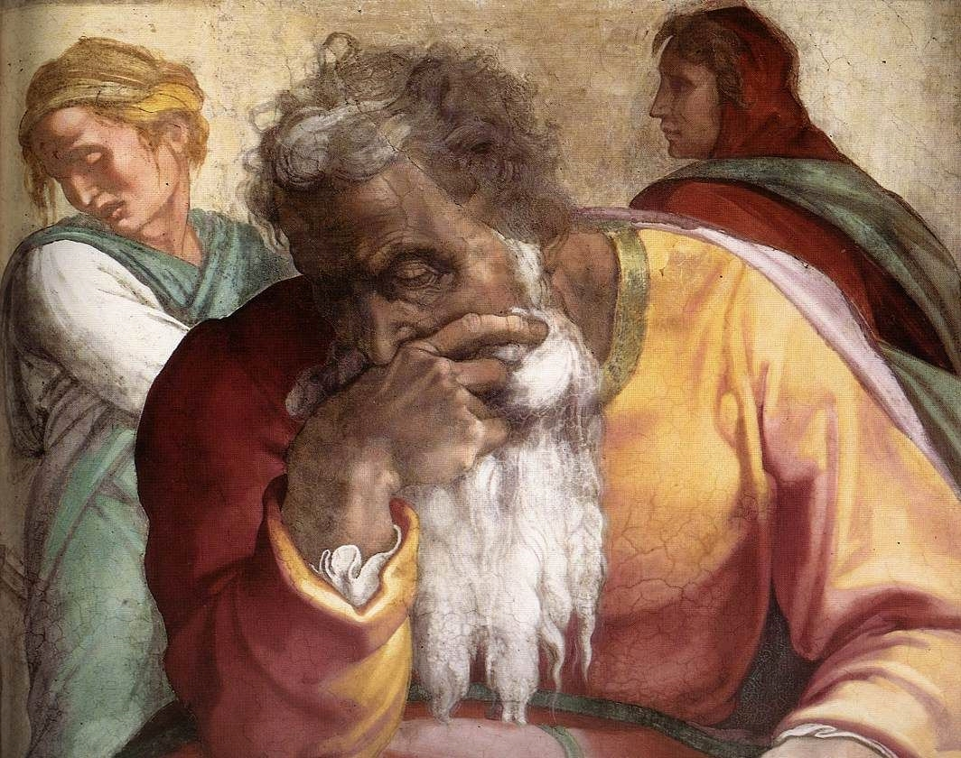 Jeremiah-Michelangelo-Sistine Chapel
