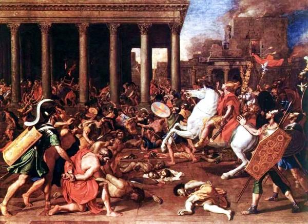 The Destruction of the Temple at Jerusalem-Nicolas Poussin