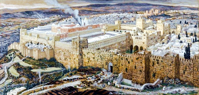 <strong>The Reconstruction of Jerusalem and the Temple of Herod</strong>, by James Tissot
