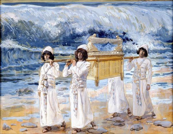 The Ark Passes Over the Jordan-James Tissot