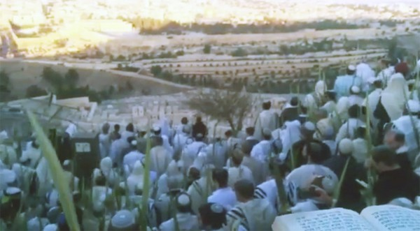 Hoshana Rabbah celebration on the Mount of Olives.