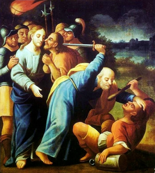 The Kiss of Judas and Peter Cutting Off the Ear of Malchus, by Jose Joaquim da Rocha