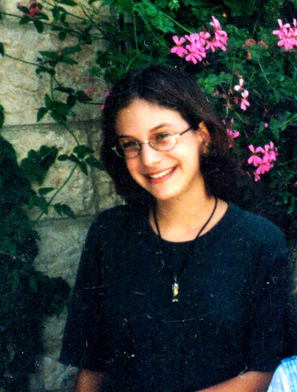Malka Chana Roth, 15,  died in a senseless act of terrorist barbarism in Jerusalem's Sbarro Restaurant on August 9, 2001.