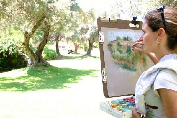 An artist at work in Jerusalem (Photo: Go Israel)