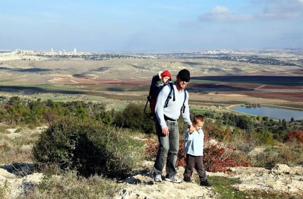 Israel father sons walk hike