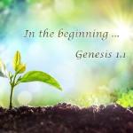 genesis 1:1, in the beginning,