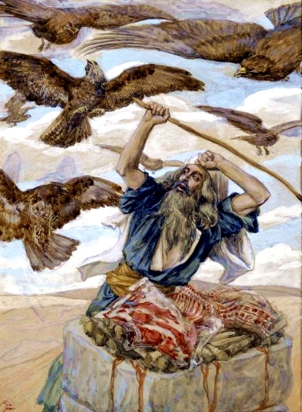 Abram Guarding His Sacrifice, by James Tissot