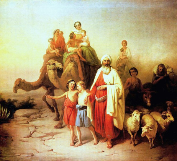 Abram's Journey from Ur to Canaan, by Jozsef Molnar