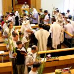 Torah-bema-platform-lulav-etrogs-citrons-Hoshanot