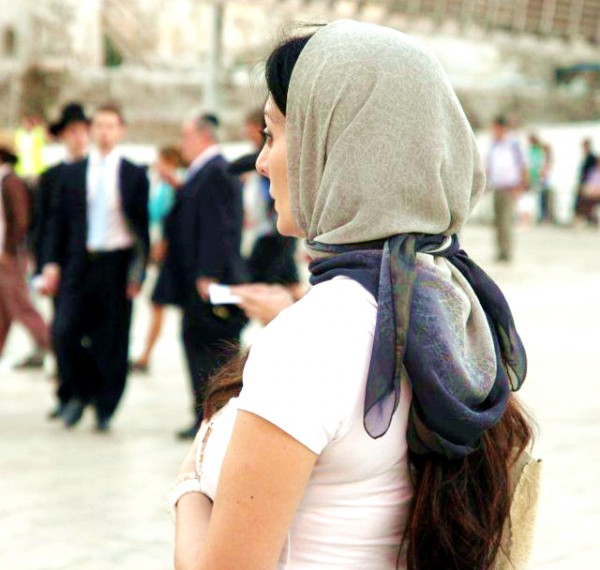 head covering-Orthodox Jewish-Kotel