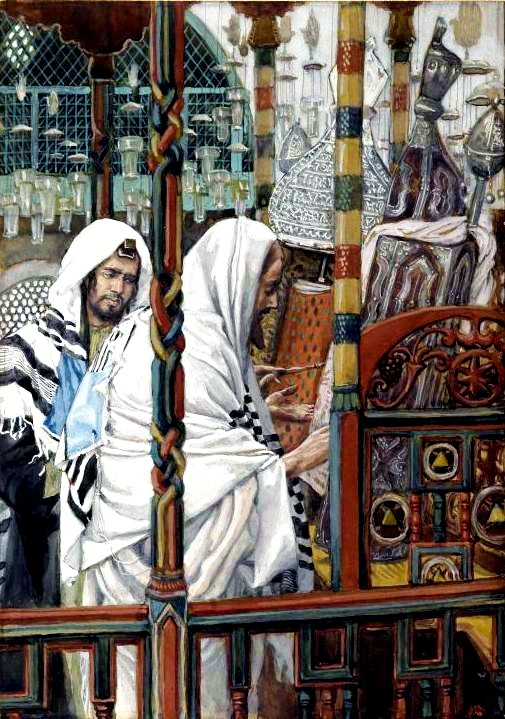 Yeshua Teaches in the Synagogue, James Tissot