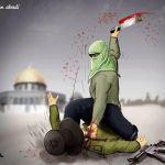 Hamas-Fatah-incitement-murder-Temple Mount-Jerusalem-cartoon