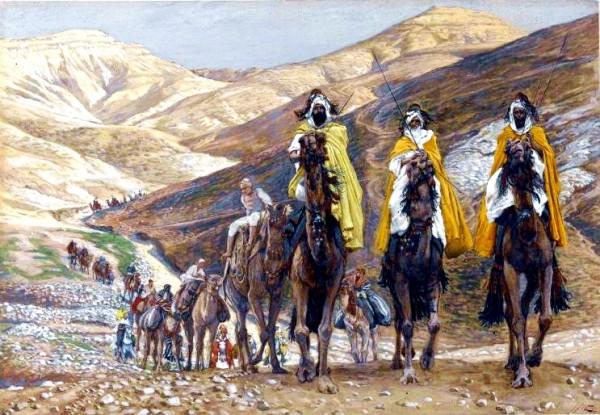 Les rois mages en voyage-The Magi Journeying, by James Tissot