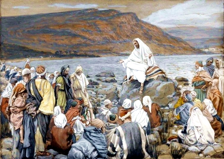 <b>Yeshua Teaches People by the Sea</b>, by James Tissot