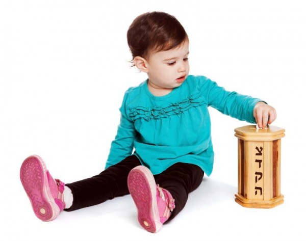 Toddler-Charity-Tzedakah box