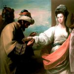 Isaac's Servant Tying the Bracelet on Rebecca's Arm, by Benjamin West