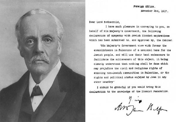 Authur Balfour, Balfour letter