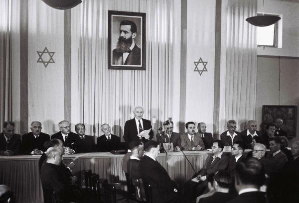 David Ben-Gurion-Declaration Israel-May, 14, 1948