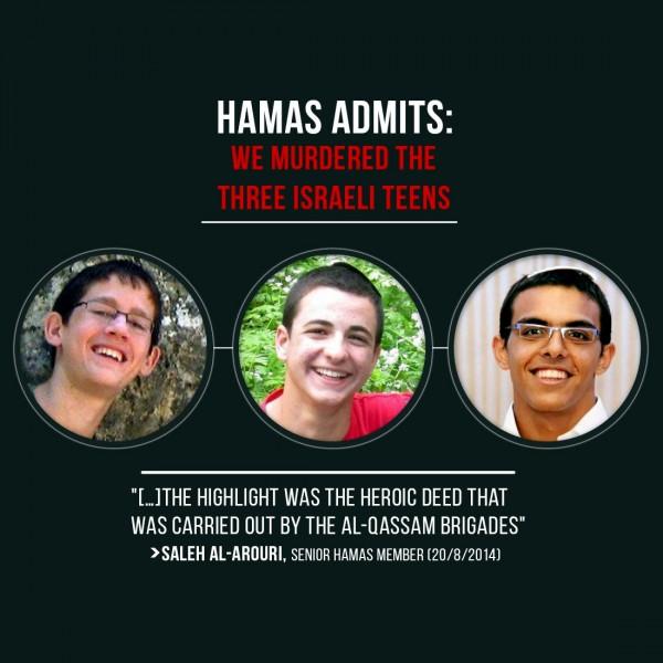 Hamas abduction murder Naftali Fraenkel Gilad Shaer Eyal Yifrah