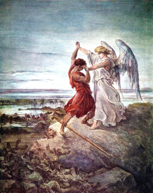 Jacob Wrestling with the Angel, by Eugène Delacroix