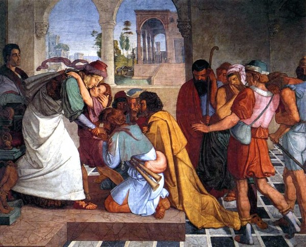 The Recognition of Joseph by His Brothers-Peter Von Cornelius-reconciliation