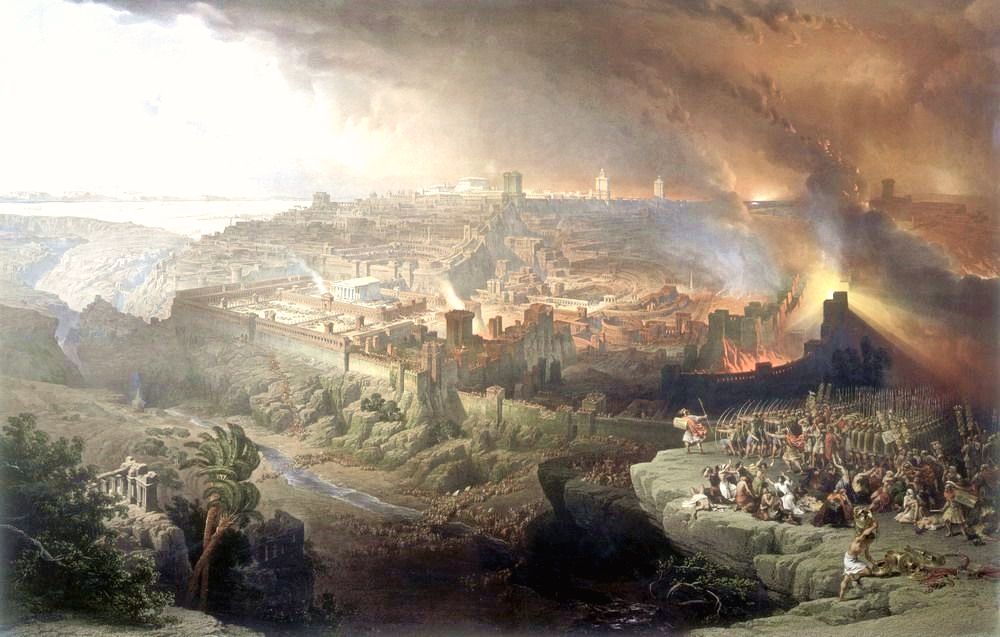 <b>The Siege and Destruction of Jerusalem by the Romans Under the Command of Titus, AD 70</b>, by David Roberts