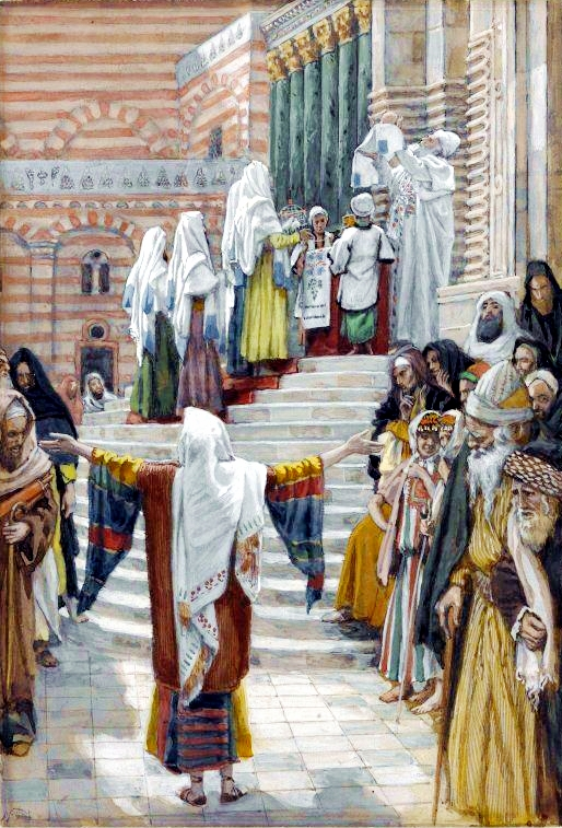 The Presentation of Yeshua in the Temple, by James Tissot