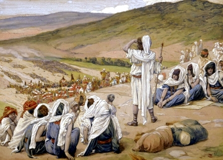 Jacob Sees Esau Coming to Meet Him, by James Tissot