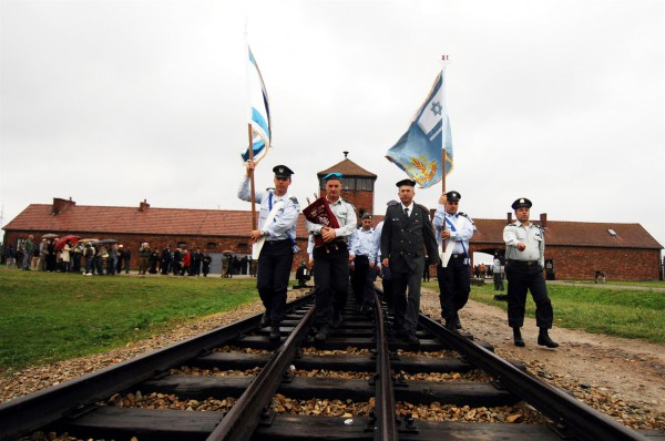 """As a central component to Holocaust education for those who serve in uniform in Israel, each year, two delegations of """"Witnesses in Uniform,"""" consisting of Police officers, Border Police officials, Ministry of Public Security representatives, and Fire and Rescue Services personnel, as well as representatives of bereaved families, travel to Poland."""