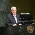 Israeli President Reuven Rivlin addresses the United Nation during a memorial ceremony to mark the International Day of Commemoration in Memory of the Victims of the Holocaust.  (UN Photo/Loey Felipe)