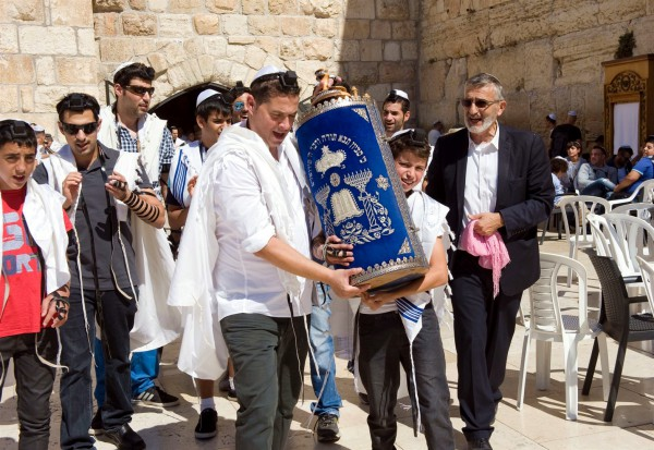 Kotel-occidentale a parete Wailing Wall-Torah-scroll-Sefer-tik