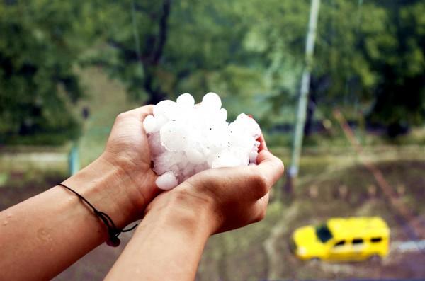 Hail stones Sofia Bulgario