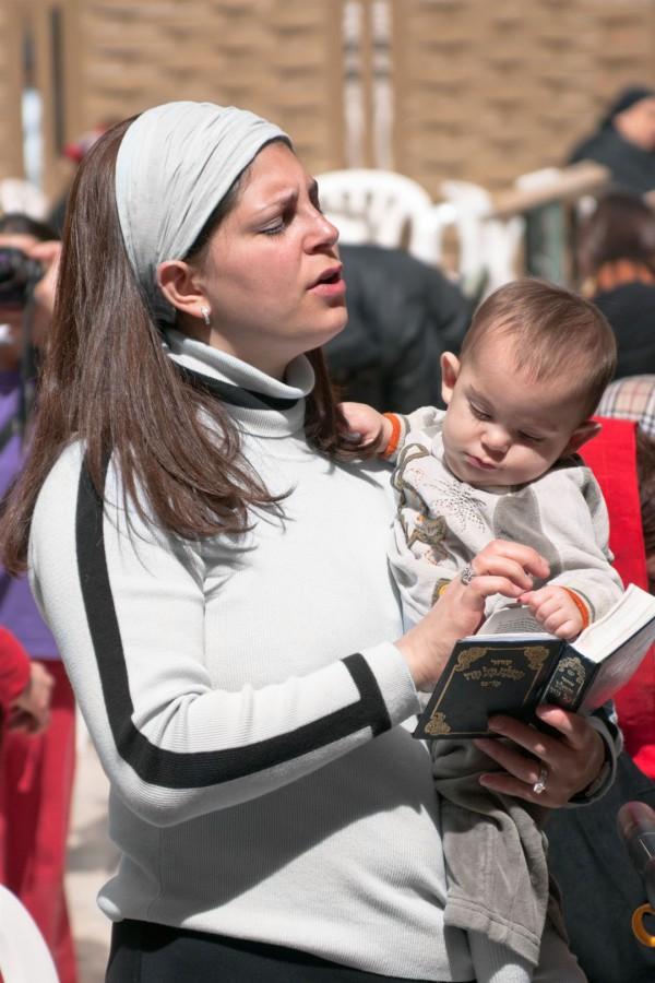 donna ebrea e Land bambino-Gerusalemme-Promessa